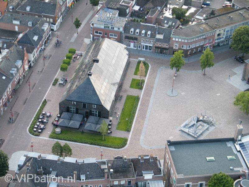 Luchtfoto glazenboerderij Schijndel