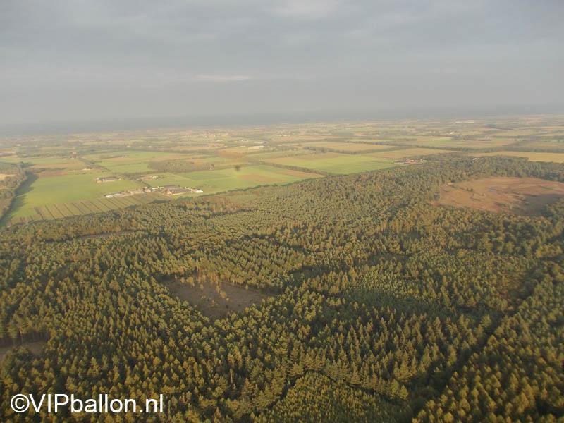 Ballonvaart vanuit Rijkevoort over Sint Anthonis naar Gemert