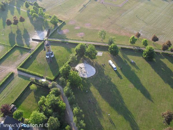 Ballonvlucht van Uden via Odiliapeel naar Elsendorp
