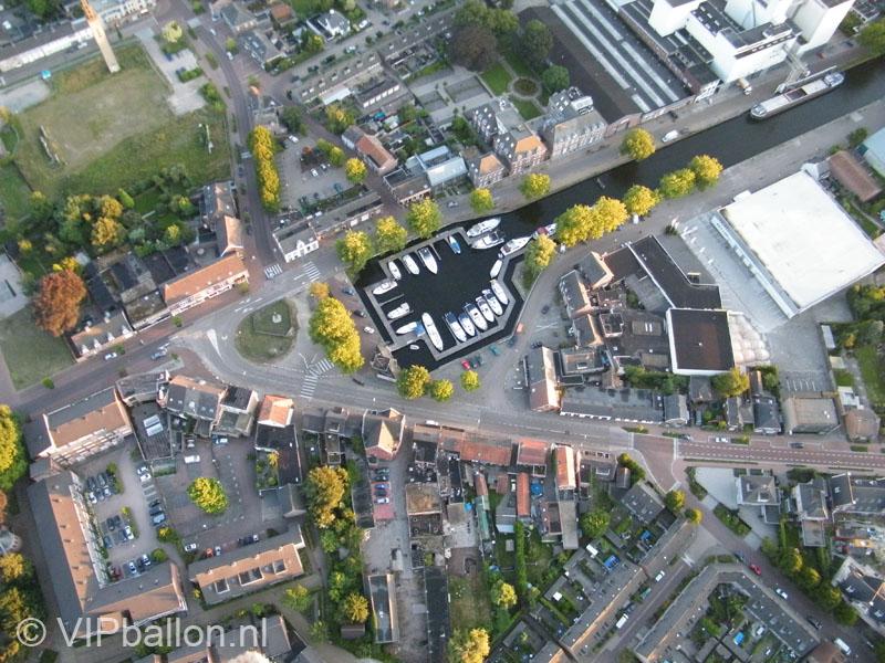 Haven van Veghel vanuit de ballon.