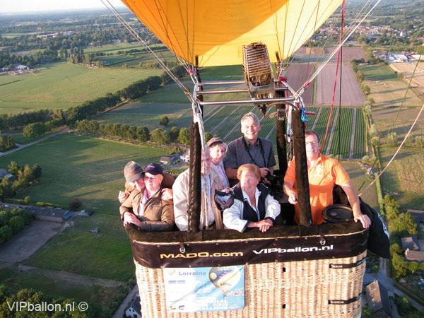 Prive Ballonvaart Den Bosch Pettelaar over Schijndel naar St. Oedenrode