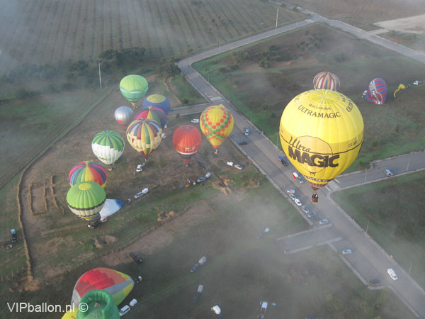 Ballonvaren in Alter do Chao Alentejo Portugal
