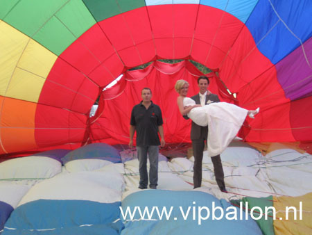 Huwelijksreportage voor ballonvaart Twente ballooning