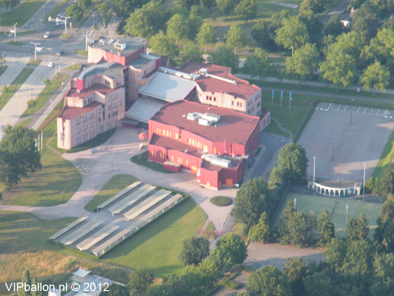 luchtballonvaart oss luchtfoto ROC de Leijgraaf