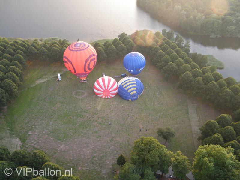 Ballonopstijging Pettelaarse Schans Den Bosch bij het provinciehuis naar Nistelrode