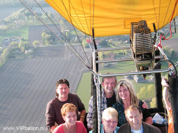 Ballonvaren van Uden via Schijndel naar Gemonde