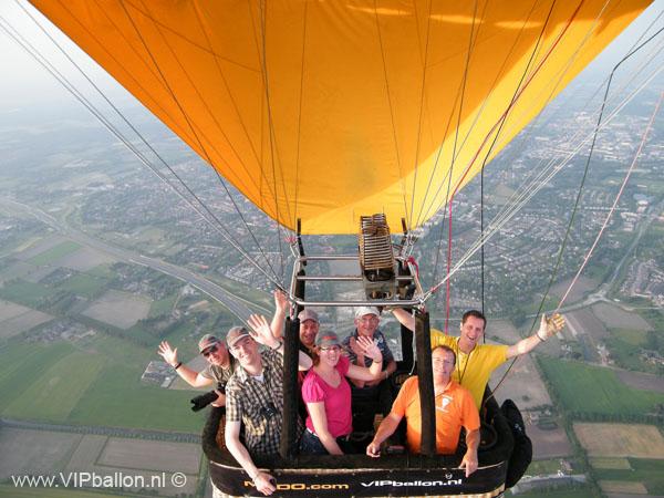 Ballonvlucht van Uden via Veghel naar Zijtaart