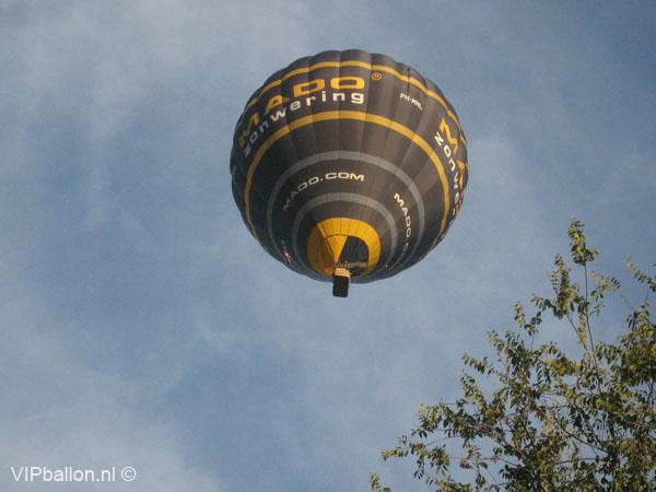 Ballonvaren van Veghel via Uden naar Zeeland