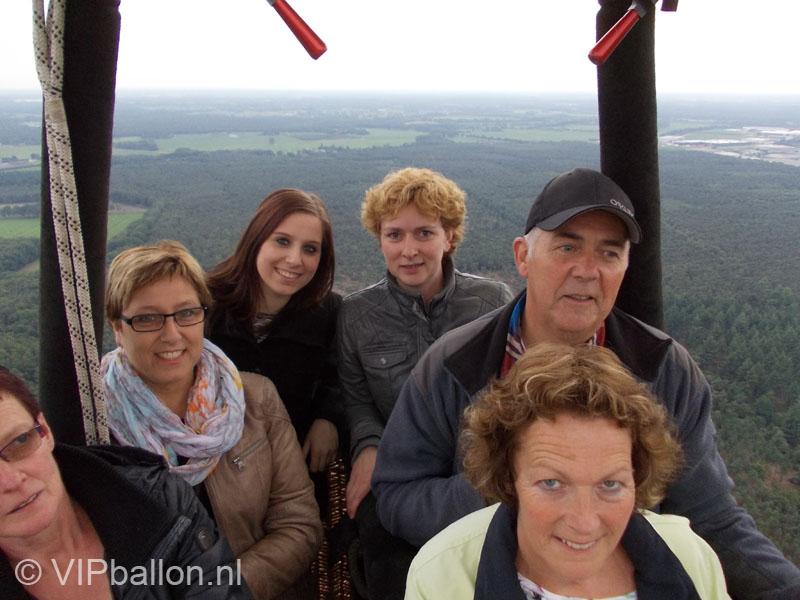 familieballonvaart met 50 jarige abraham