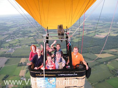 Ballonvaart vanuit Uden via Wanroij naar St. Anthonis