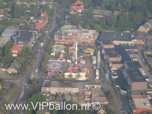 Balkum (Berlicum) Kermis een begrip in de regio met de ballon kan je het allemaal zien.