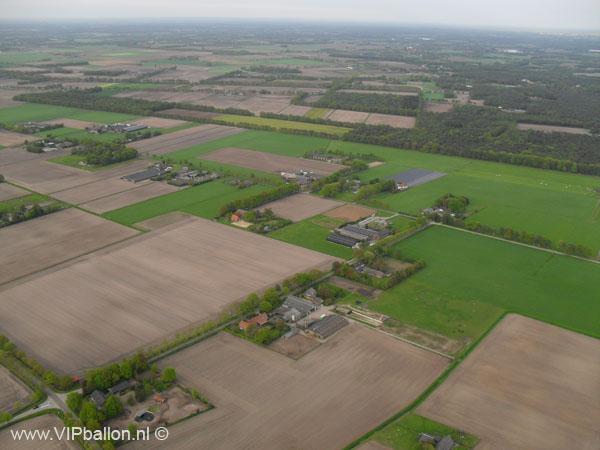 Ballonvlucht van Den Bosch via Berlicum naar Uden