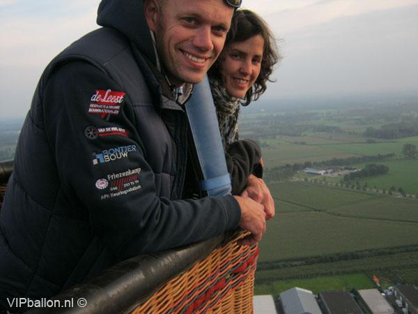 Ballonvaren van Beek en Donk naar Nijnsel over de DAF testbaan met de ballon