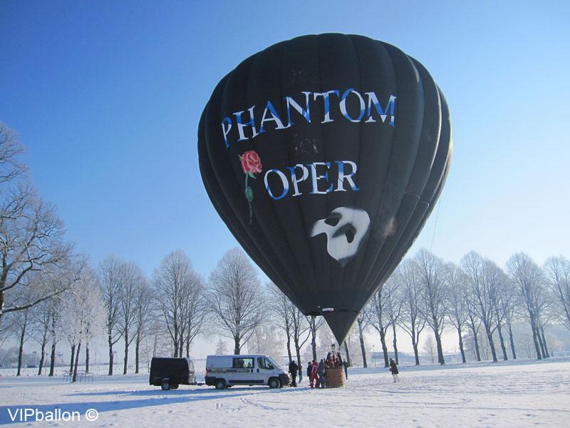 Winter ballonvaart Den Bosch