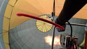 Luchtballon vlam en brander
