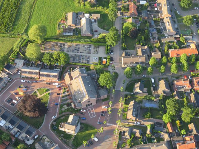 Luchtfoto Kerk Wijbosch