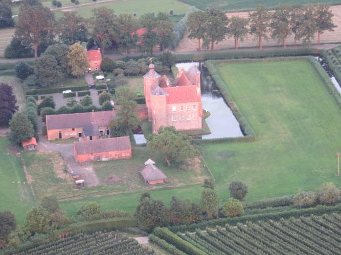 Kasteel Croy Aarle-Rixtel luchtfoto