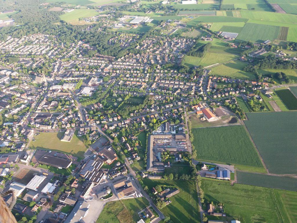 Luchtfoto Boekel vanuit de ballon