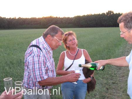 Champagne na de ballonvaart