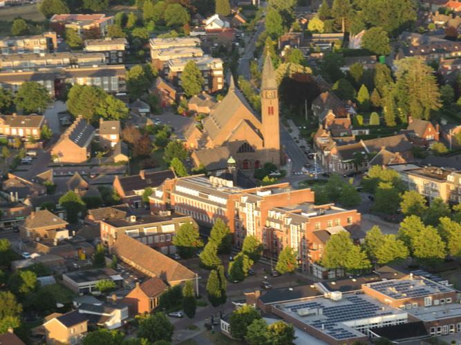 Volkelse kerk vanuit de ballon