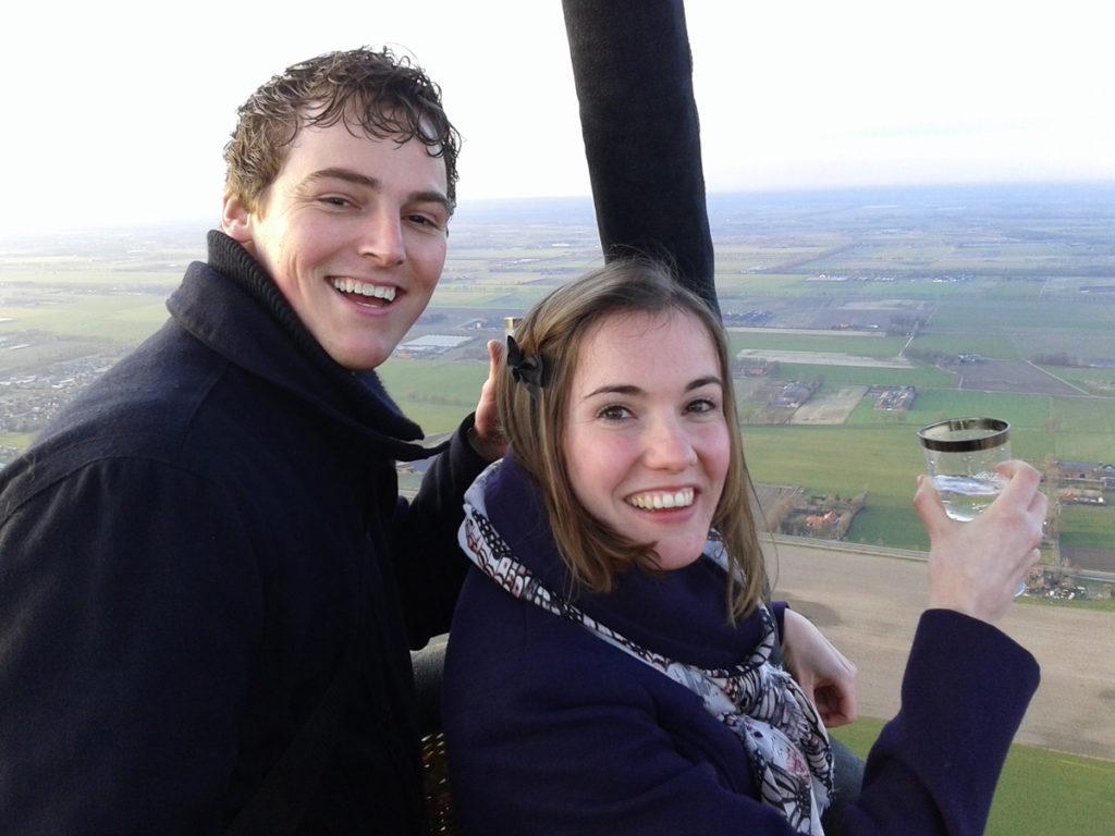 huwelijksaanzoek luchtballon